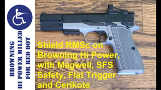 Browning Hi Power Milled for RMSc Red Dot