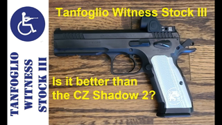 Tanfoglio Witness Stock III milled for Trijicon SRO