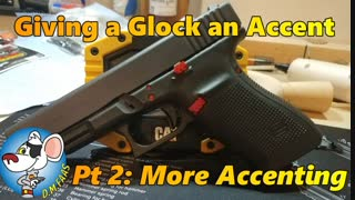 Adding more Accent to a Glock 20.