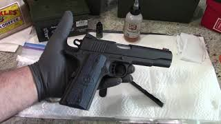 How to clean the Colt 1911 Government Model Competition 9mm pistol!