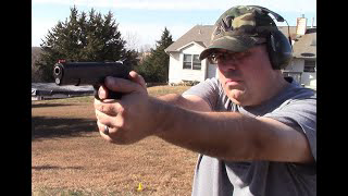 9mm Colt 1911 Government Model range test.  Will it run Critical Defense?