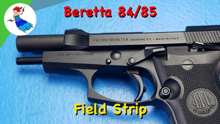 BERETTA 80 SERIES // how to field strip the Beretta 84 Cheetah or Beretta 85 Cheetah