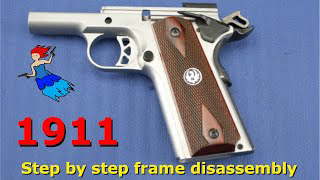 1911 Series 70 Frame Disassembly