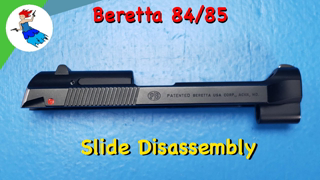 BERETTA 80 SERIES // How to Disassemble the Beretta 84 Cheetah or Beretta 85 Cheetah