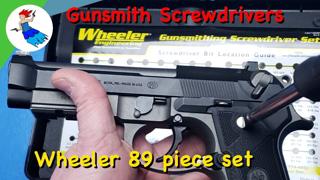 GUNSMITH SCREWDRIVERS // Why use the Wheeler 89 piece professional screwdriver set over hardware set
