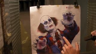 Zombie Clown vs. UZI