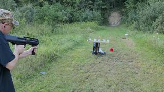 Breaking In The KSG-12 : 12 Gauge Shotgun With Birdshot No Problems Slow Motion & Regular Shooting