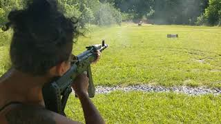 AK-74:  Shooting The Bulgarian 5.45x39 Review the Archangel stock is Junk Breaking loose Bad fitment