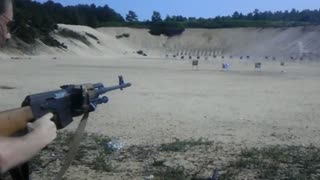Classic Video: Shooting The Zastava 8MM M76 DMR  300 Yards with Iron Sights + Slow Motion (2007)