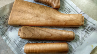 ZPAPM70: Light Maple Wood Refinish 100% Tung Oil with Poly. Ghost's way Before And After Air Drying