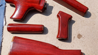 """ZpapM70: """"Teutonic Red"""" Walnut set Refinish 100% Pure Tung oil Popping Grain And Poly Options"""