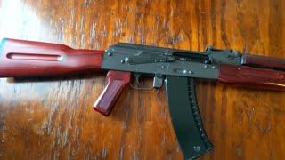 AK-74 : Bulgarian AK-74 5.45x39 Built from Parts kit Nodak Spud Receiver Restained