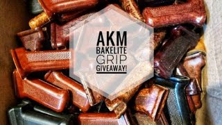 AKM Grips! Romanian Refinished Bakelite Grip Giveaway! Just Like Subscribe And leave a Comment!