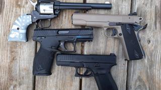 Glock 44 vs. Taurus TX 22 vs GSG 1911 Vs Heritage Rough Rider Revolver Nuff Said