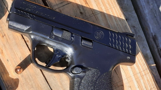 Smith&Wesson M&P9 Shield Plus Shooting At 11 Yards From The Bench With Callaway Ballistics 115 GRTMJ
