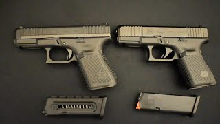 Glock 19 Vs. Glock 44 Good training companions? Let's find out. Glock 19 Gen 5 9mm vs. Glock 44.