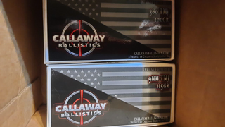 Callaway Ballistics Package Of Ammo, Unboxing. Quality Secured Packaging. Great Company, Great Ammo.