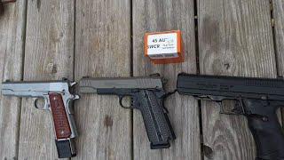 SCWCR 78 Grain 45ACP SCHP Group Test. Remington R1, Taurus PT1911, Hi-Point JHP 45.