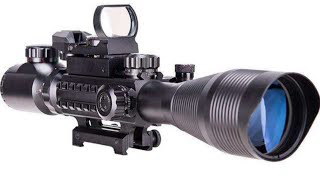 Pinty Rifle Scope. Scope, Laser,  And Reflex Sight, All In One.