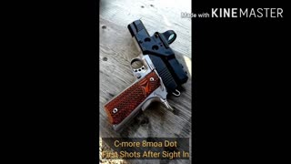 C-MORE Red Dot Sight 1911 Frame Mount....Quick Look #shorts